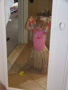 Addie, dressing the part...